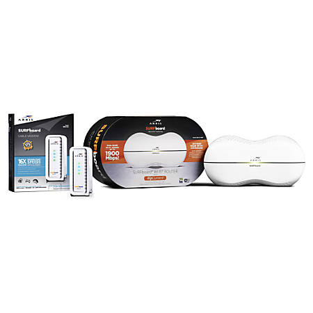 ARRIS SURFboard SB6183 Cable Modem And SURFboard SBR-AC1900P Wireless-AC Dual-Band Router Set, 20002
