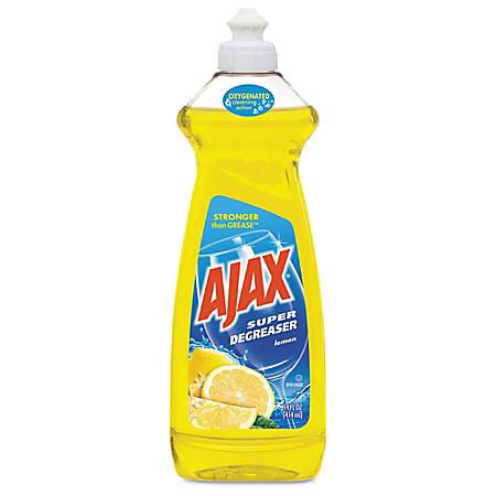 Ajax® Dish Detergent, Lemon Scent, 28 Oz Bottle, Pack Of 9 Bottles