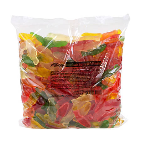 Albanese Confectionery Sugar-Free Gummi Fish, 5 Lb Bag, Assorted Flavors