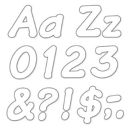 """TREND Ready Letters®, Italic, 4"""", White, Pre-K - Grade 12, Pack Of 175"""