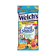 Welchs Reduced Sugar Mixed Fruit Snacks