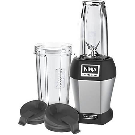 Ninja Pro BL456 Table Top Blender - 900 W - 24 fl oz - 1 Speed Setting(s) - Black, Silver