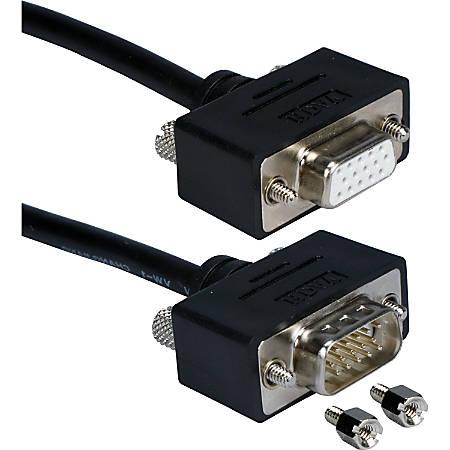 QVS UltraThin VGA Cable - HD-15 Male VGA - HD-15 Male VGA - 10ft