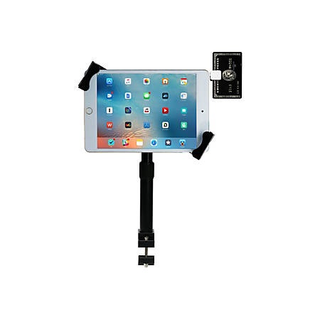 "CTA Digital Height-Adj Tube-Grip Security Mount For Ipad Pro 9.7In Ipad Air - 14"" Screen Support"