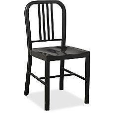 Lorell Metal Chair Black Set Of