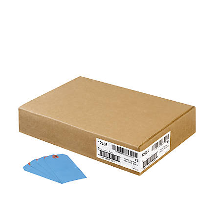 """Avery® Colored Shipping Tags - 4.75"""" Length x 2.37"""" Width - Rectangular - 1000 / Box - Blue"""