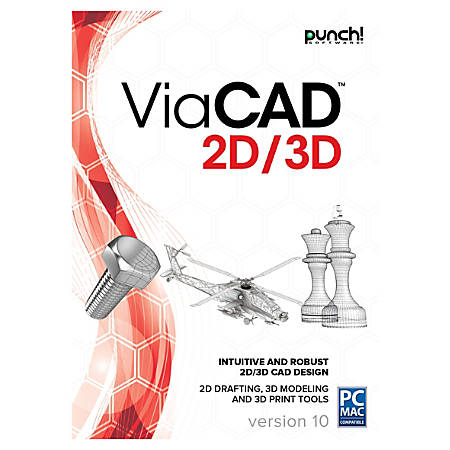Encore PUNCH! ViaCAD 2D/3D v10, Traditional Disc