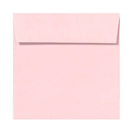 "LUX Square Envelopes With Peel & Press Closure, 6 1/2"" x 6 1/2"", Candy Pink, Pack Of 500"