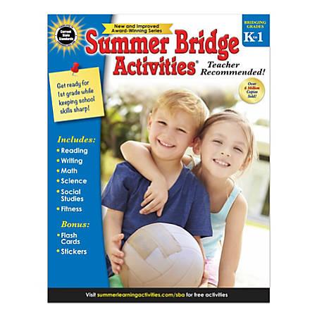 Carson-Dellosa Summer Bridge Activities Workbook, Grades K-1