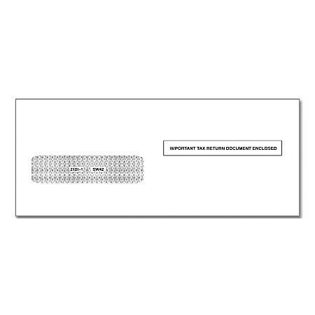 """ComplyRight™ Single-Window Envelopes For Form 1042-S, 5 5/8"""" x 9"""", White, Pack Of 100 Envelopes"""