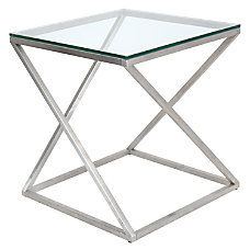Lumisource 4Z Side Table ClearChrome