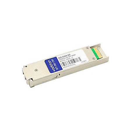 AddOn Dell 320-5164 Compatible TAA Compliant 10GBase-SR XFP Transceiver (MMF, 850nm, 300m, LC, DOM) - 100% compatible and guaranteed to work