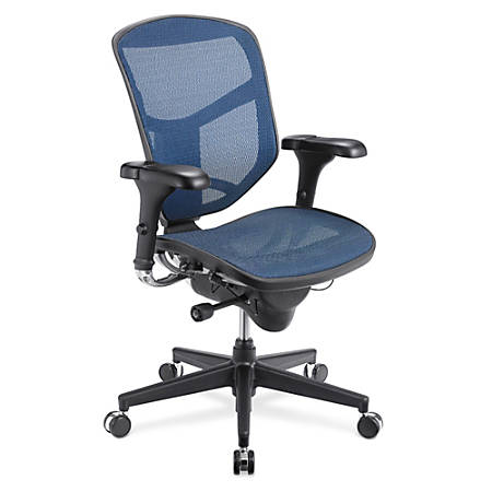 WorkPro® Quantum 9000 Series Ergonomic Mid-Back Mesh/Mesh Chair, Blue/Black