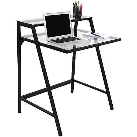 Lumisource 2-Tier Computer Desk, Black