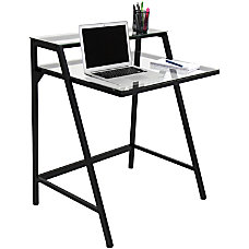 Lumisource 2 Tier Computer Desk Black