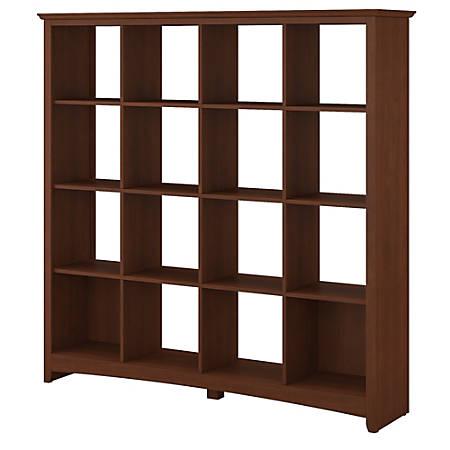 Bush Furniture Buena Vista 16 Cube Bookcase, Serene Cherry, Standard Delivery