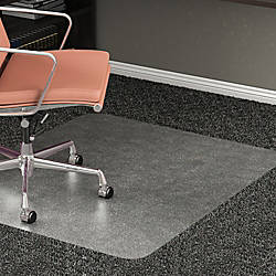 Realspace All Pile Studded Chair Mat 36 X 48 Clear