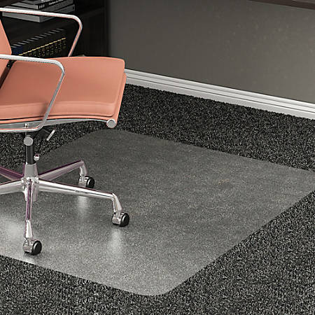 "Realspace® All-Pile Studded Chair Mat, 36"" x 48"", Clear"