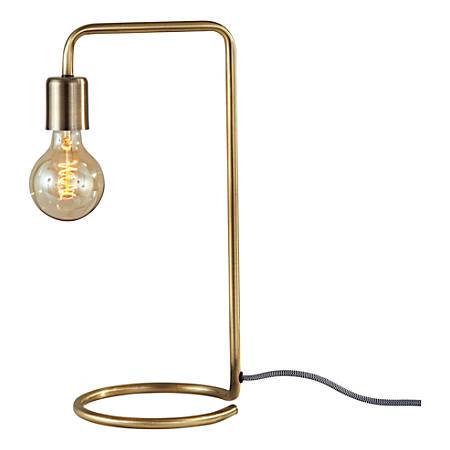"""Adesso® Morgan Desk Lamp, 16-1/2""""H, Antique Brass"""