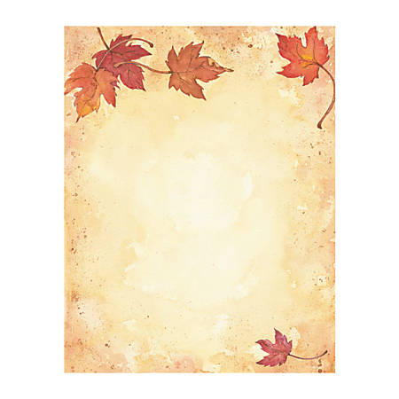 """Great Papers!® Holiday-Themed Letterhead Paper, 8 1/2"""" x 11"""", Fall Leaves, Pack Of 80 Sheets"""
