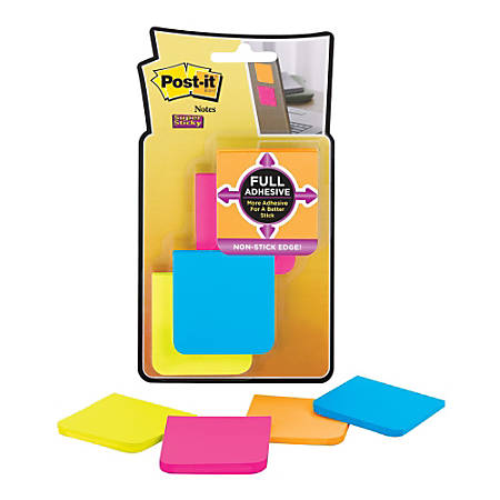 """Post-it® Super Sticky Full Stick Notes, 2"""" x 2"""", Rio De Janeiro, Pack Of 8 Pads"""