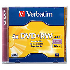 Verbatim DVDRW 47GB 4X with Branded