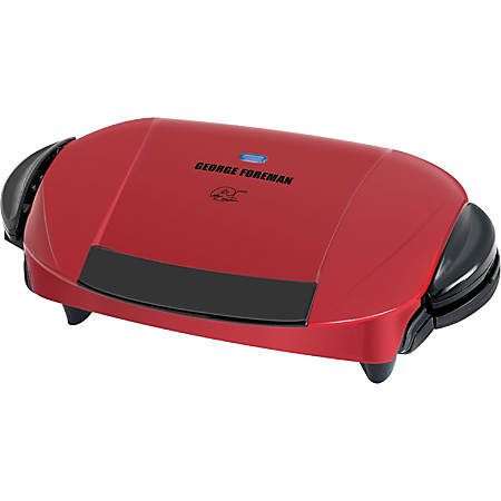 George Foreman 5-Serving Removable Plate Grill, Red/Black