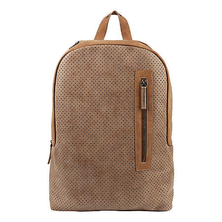 """Volkano Punk Backpack With 15.6"""" Laptop Compartment, Tan"""