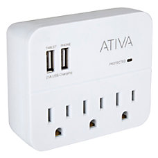 Ativa 3 Outlet Charging Station Surge