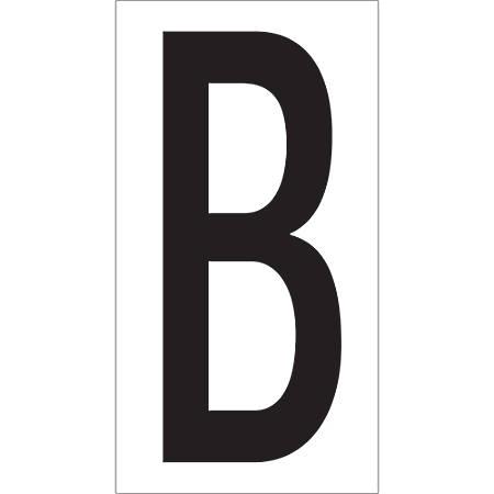 """Office Depot® Brand Vinyl Warehouse Labels, DL9310B, Letter B, 3 1/2"""", Black/White, Case Of 50"""