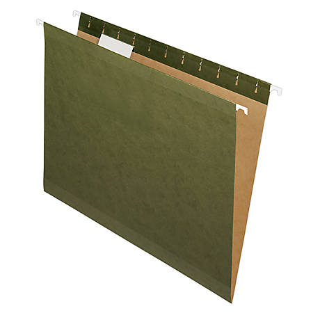 Pendaflex® Premium Reinforced Hanging Folders, 1/5 Cut, Letter Size, Standard Green, Pack Of 25