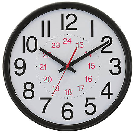 TEMPUS DST Auto-Adjust 24-Hour Wall Clock