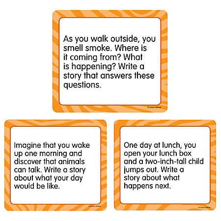 "Carson-Dellosa™ Story Starters: Narrative Curriculum Cut-Outs, 6"" x 6 1/2"", Pack Of 36"