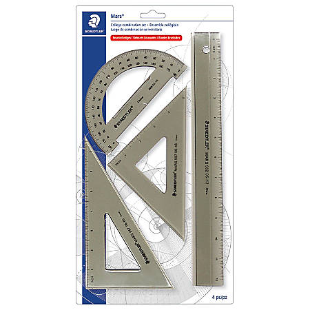 Staedtler® Mars® College Combination Set With Ruler, Protractor, Triangles
