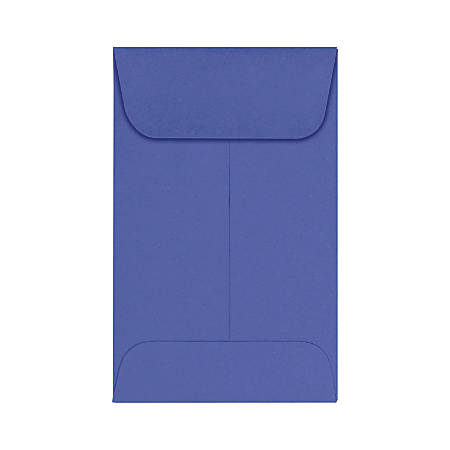 "LUX Coin Envelopes, #1, 2 1/4"" x 3 1/2"", Boardwalk Blue, Pack Of 500"