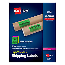 Avery High Visibility Shipping Labels 2