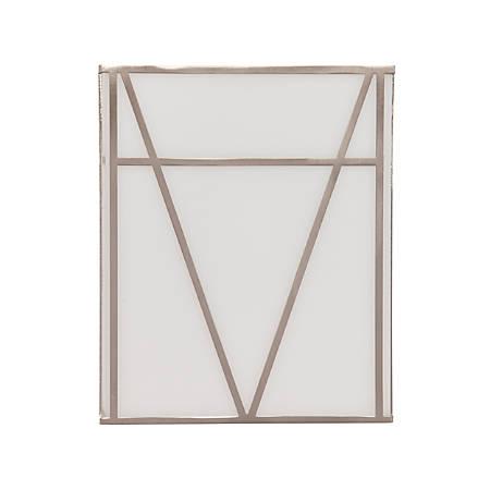 "Southern Enterprises Jeremy Indoor LED Wall Sconce, 10-1/2""H, White Shade/Brushed Nickel Base"