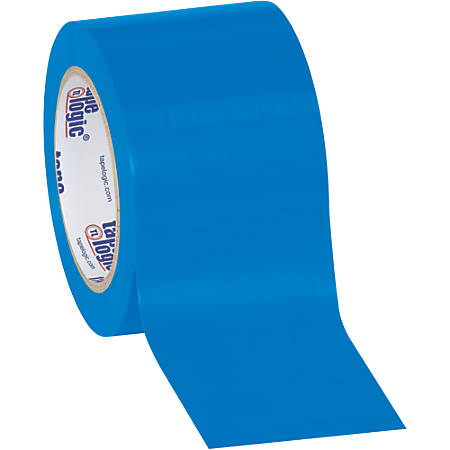 """BOX Packaging Solid Vinyl Safety Tape, 3"""" Core, 3"""" x 36 Yd., Blue, Case Of 3"""