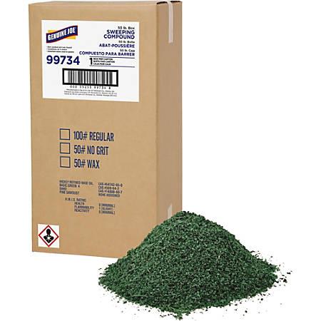 Genuine Joe Green Sweep Sweeping Compound - Wax - 1 Box - Dark Green