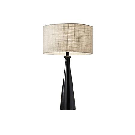"Adesso® Linda Table Lamp, 21 1/2""H, Brown/Light Yellow Shade/Black Base"