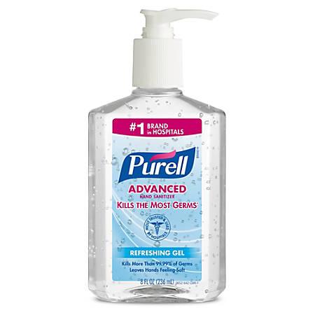 Purell® Instant Hand Sanitizer Pump, 8 Oz.