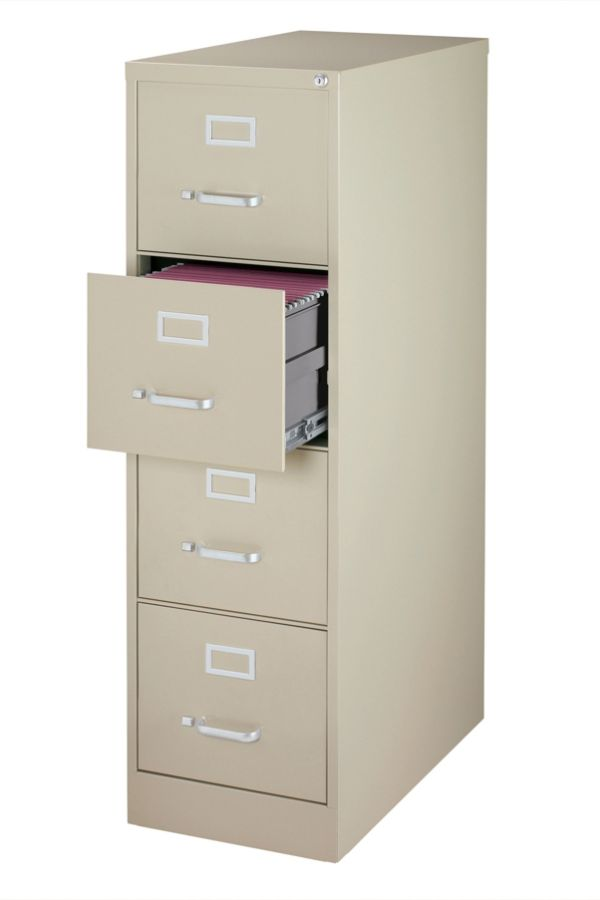 workpro 26 12 d 4 drawer letter size vertical file cabinet putty by rh officedepot com filing cabinets 4 drawer vertical filing cabinet 4 drawer cheap