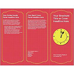 Customizable Trifold Brochure Lunch Clock