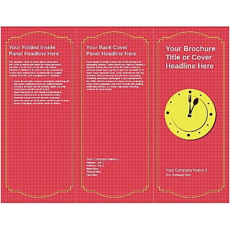 Customizable Trifold Brochure, Lunch Clock