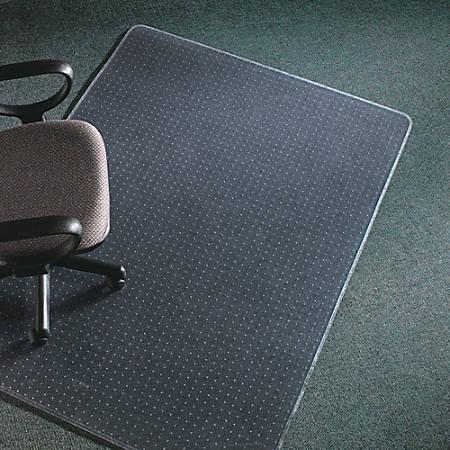 "Deflect-O® Execumat Heavy-Duty Vinyl Chairmat For High-Pile Carpets, Rectangular, 60""W x 60""D, Clear"