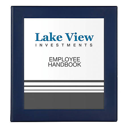 """Avery® Frame View Heavy-Duty Binders, 1"""" Rings, 47% Recycled, Navy Blue"""