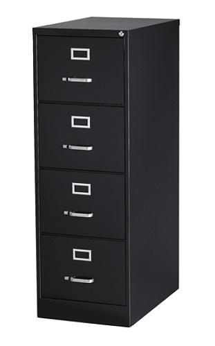 Workpro 26 12 D 4 Drawer Legal Size Vertical File Cabinet Black