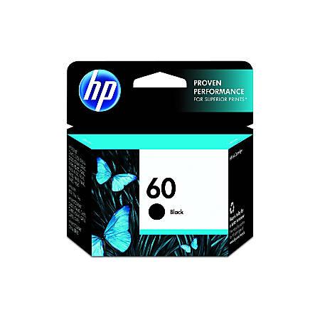 HP 60, Black Original Ink Cartridge (CC640WN)
