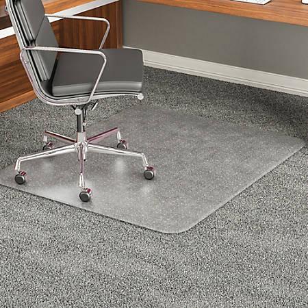 Deflect O Execumat Heavy Duty Vinyl Chair Mat For High Pile Carpets 46 X 60 Translucent Item 450397