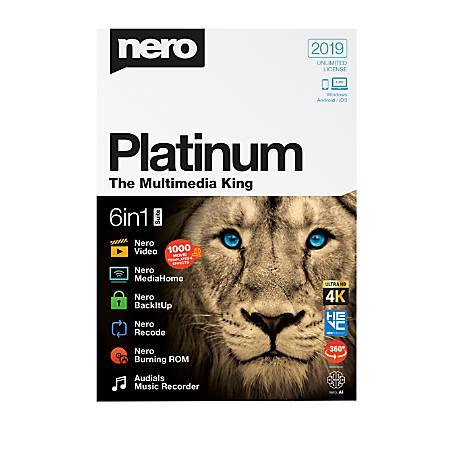 Nero Platinum 2019, Traditional Disc